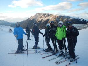 narciarstwo ze znajomymi
